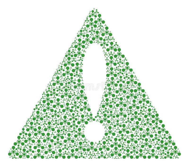 Mitteilungs-Dreieck-Zeichen-Mosaik des Wmd-Nerven-Vertreters Chemical Warfare Items vektor abbildung