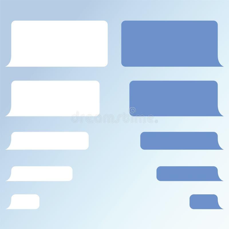 Mitteilungsblasen-Chatvektor Vektorschablone von Mitteilungsblasen lizenzfreie abbildung