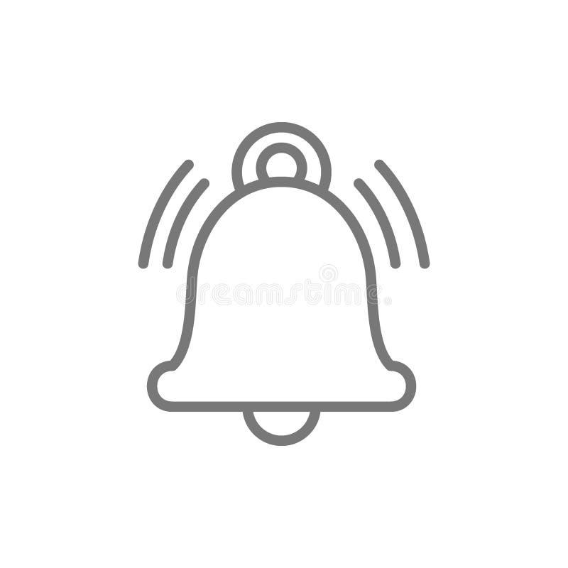 Mitteilungsglocke, Warnung, Service Handbelllinie Ikone vektor abbildung