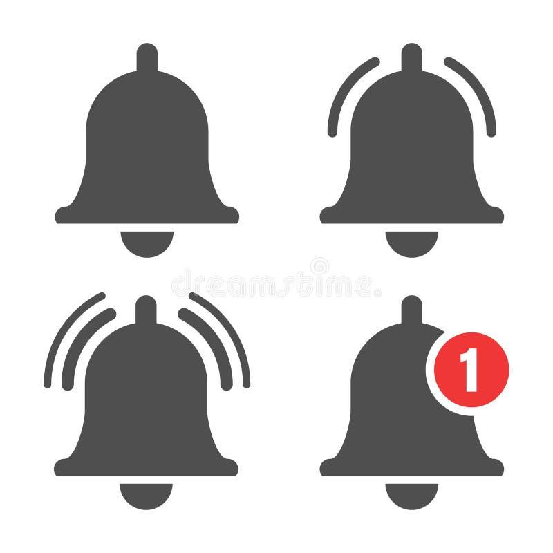 Mitteilungsglockenikone stock abbildung