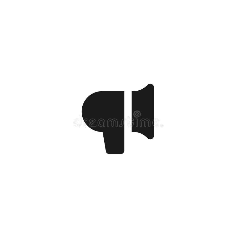 Mitteilungsikonenentwurfslautsprecher-Megaphonsymbol einfache saubere Berufsgeschäftsführungs-Konzeptvektorillustration stock abbildung