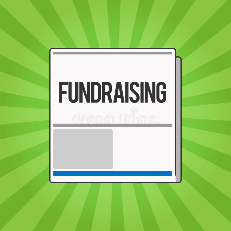 Mittel beschaffendes Handschriftstextschreiben Konzeptbedeutung Suchen der finanziellen Unterstützung für Nächstenliebeursache od lizenzfreie abbildung