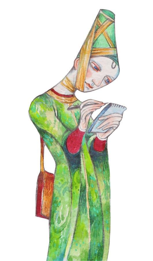 Mittelalter - modern lizenzfreie abbildung