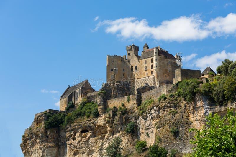 Mittelalterlich Beynac-und-Cazenac Schloss in Frankreich Dordgone lizenzfreies stockfoto