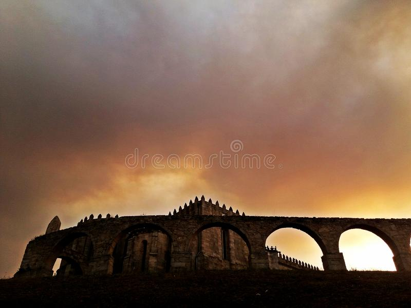 Mittelalterliche Abtei von Santa Clara, Vila do Conde, nahe Porto, Portug lizenzfreie stockfotos