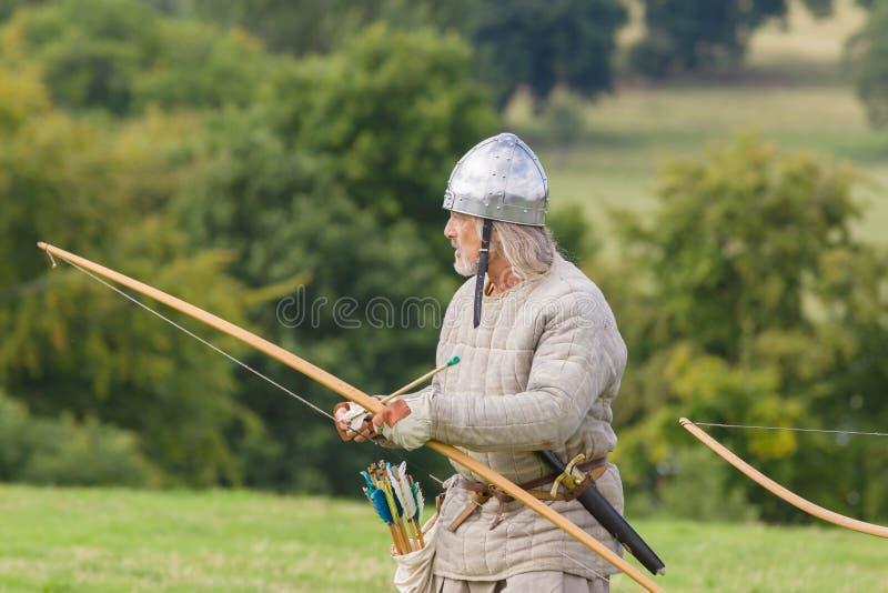 Mittelalterliche Bogenschützen stockbilder