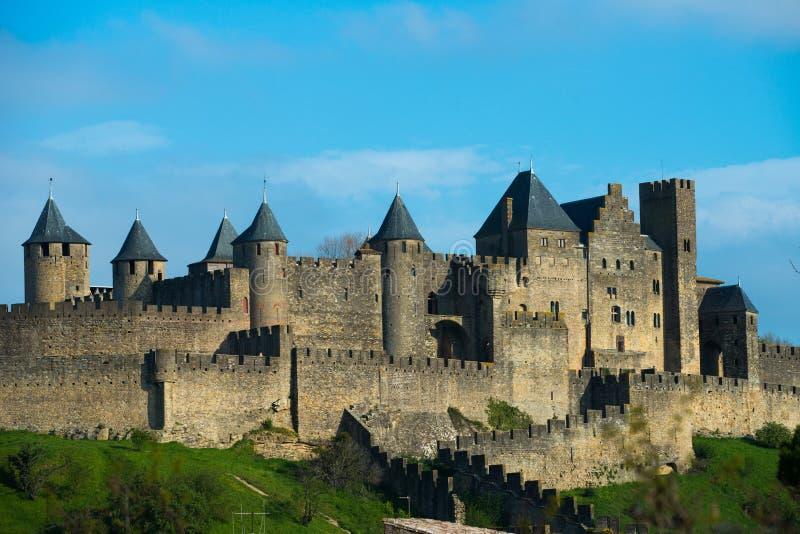 Mittelalterliche Carcassone-Stadt stockfoto