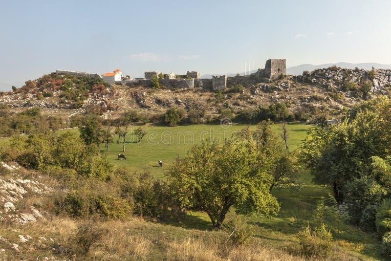 Mittelalterliche Festung Onogost in Niksic lizenzfreies stockbild