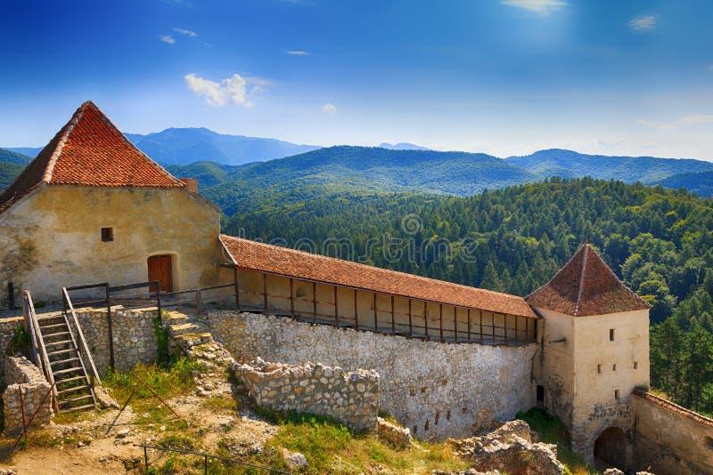 Mittelalterliche Festung in Rasnov, Siebenbürgen stockfotos