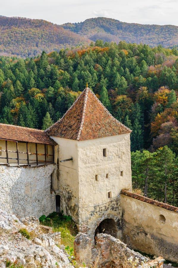 Mittelalterliche Festung in Rasnov, Siebenbürgen, Brasov, Rumänien stockfoto