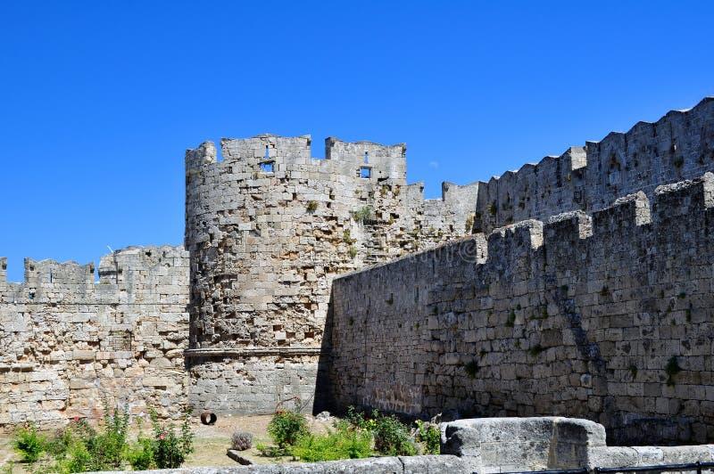 Mittelalterliche Festung von Rhodos. stockbild
