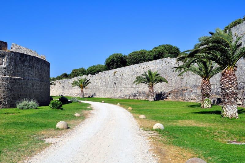 Mittelalterliche Festung von Rhodos. lizenzfreie stockfotografie