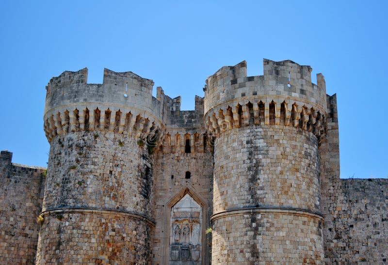 Mittelalterliche Festung von Rhodos. stockfotografie