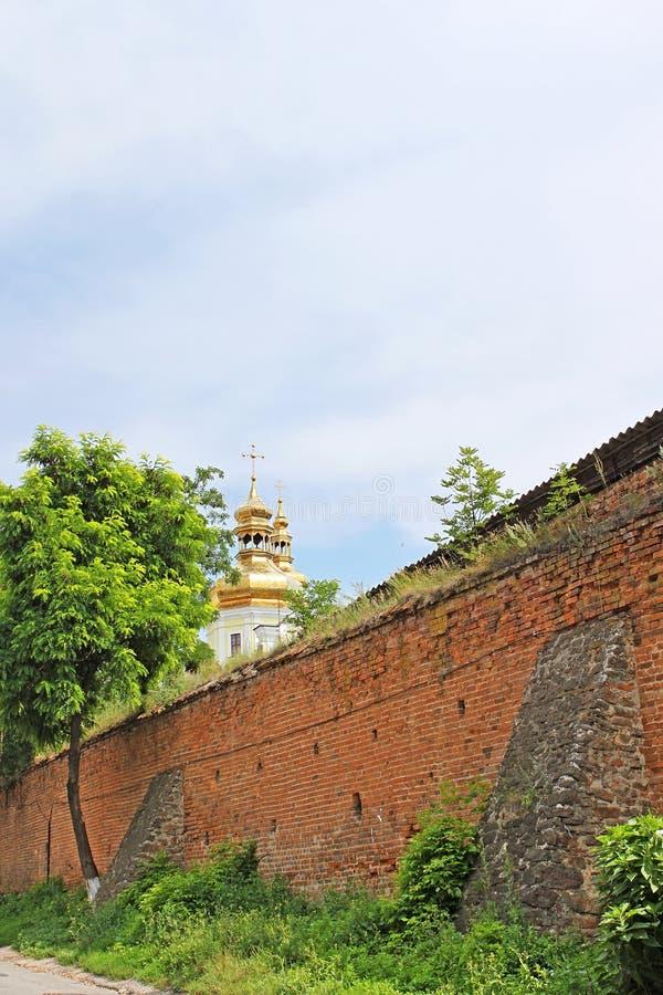 Mittelalterliche Festungsmauern Muri, Vinnytsia, Ukraine lizenzfreies stockfoto