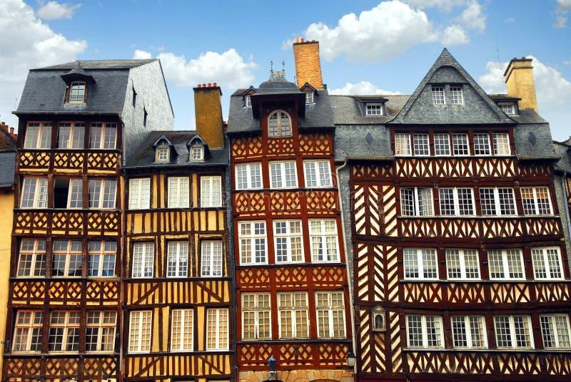 Mittelalterliche Häuser lizenzfreie stockfotografie