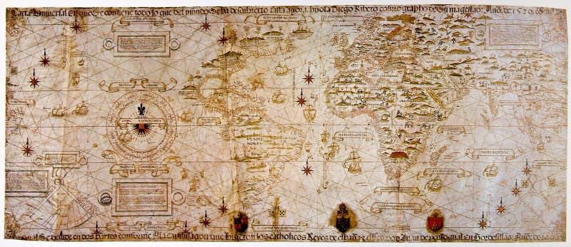Mittelalterliche Karte der Welt lizenzfreies stockbild
