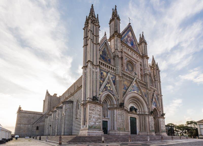 Mittelalterliche Kathedrale in Orvieto, Umbrien, Italien stockfotografie
