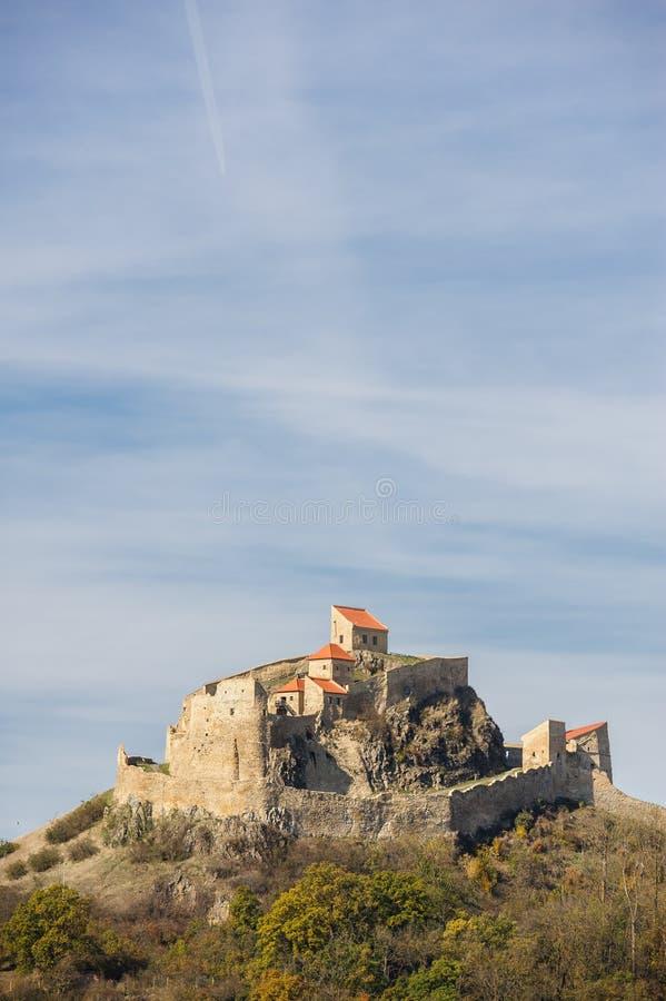 Mittelalterliche Rupea-Festung in Rumänien stockfotos