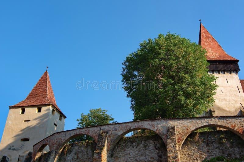 Mittelalterliche sächsische Festung stockbilder