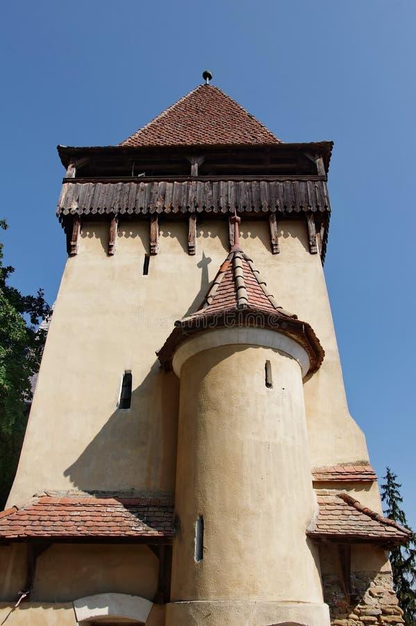 Mittelalterliche sächsische Wehrkirchebastion lizenzfreies stockfoto