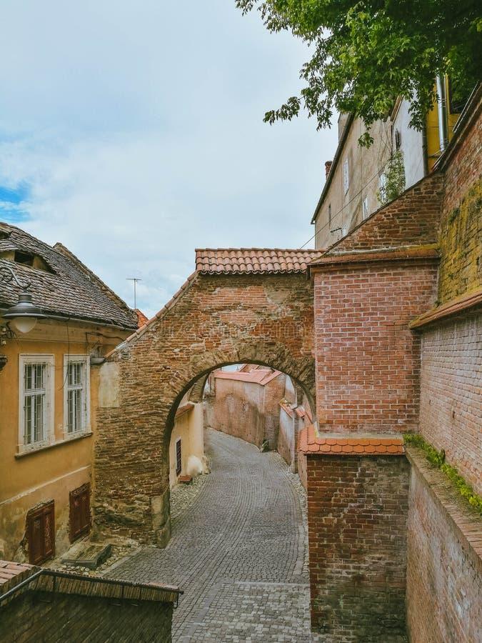 Mittelalterliche Schönheit von Sibiu Rumänien stockfoto