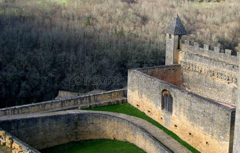 Mittelalterliche Schloss-Struktur stockbilder