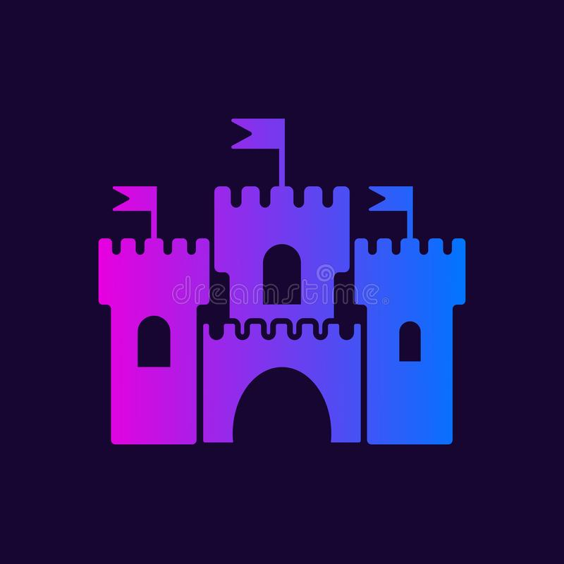 Mittelalterliche Schlossikone lizenzfreie abbildung