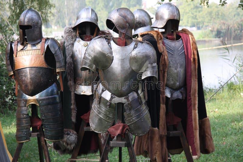 Mittelalterliche Schutzkleidung lizenzfreie stockfotografie