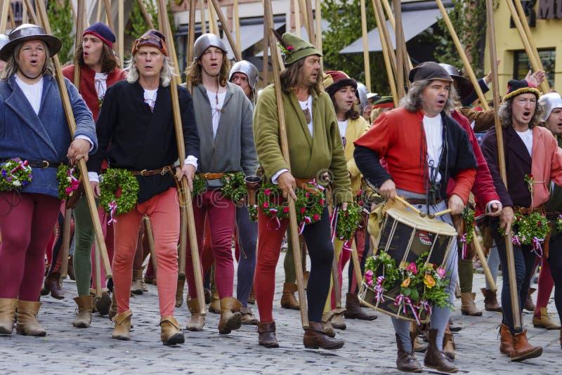 Mittelalterliche Spiele die Landshut-Hochzeit lizenzfreies stockfoto