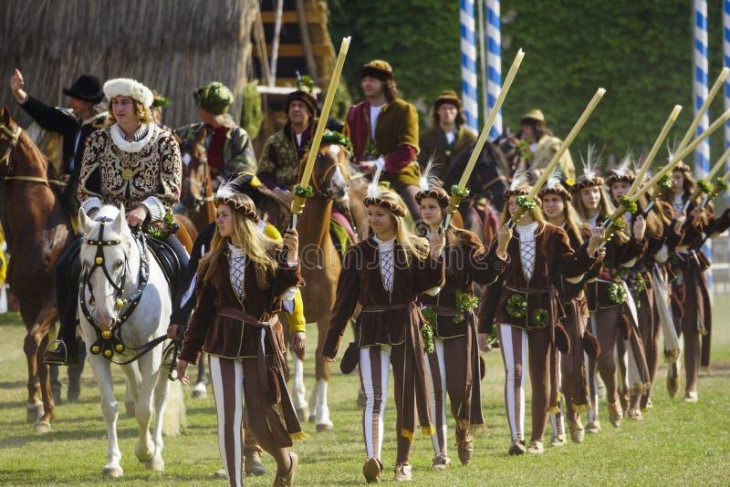 Mittelalterliche Spiele die Landshut-Hochzeit lizenzfreie stockfotos