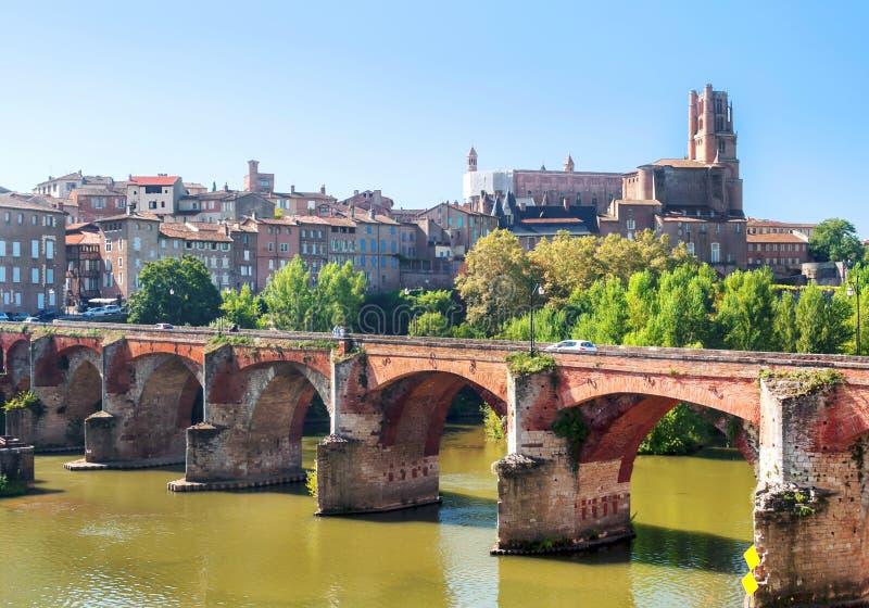 Mittelalterliche Stadt Albis in Frankreich lizenzfreie stockbilder