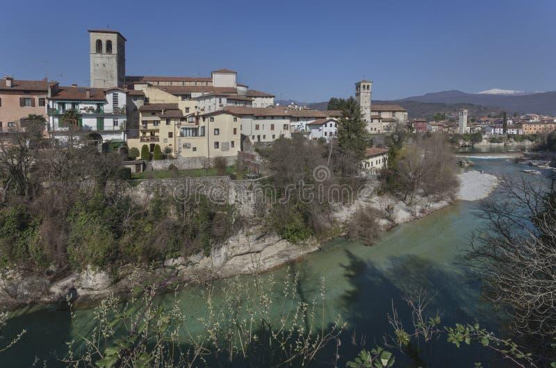 Mittelalterliche Stadt Cividale stockbilder