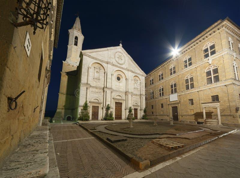Mittelalterliche Stadt Pienza, Toskana, Italien stockfotografie