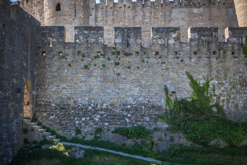 Mittelalterliche Stadt von Carcassone stockbilder