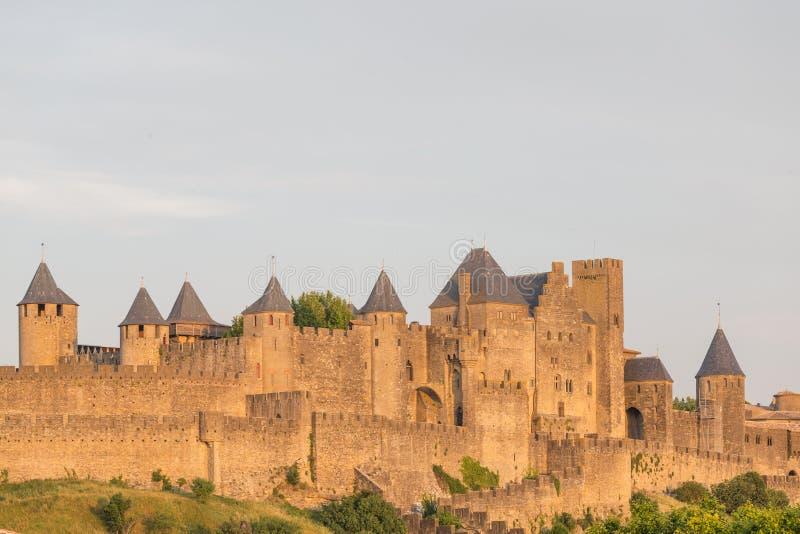 Mittelalterliche Stadt von Carcassonne, Languedoc Roussillon stockbild