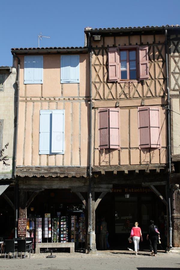 Mittelalterliche Stadt von Mirepoix lizenzfreies stockfoto