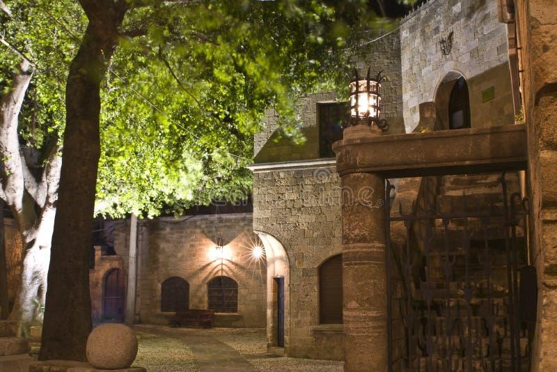 Mittelalterliche Stadt von Rhodos-Insel lizenzfreies stockbild