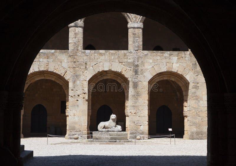 Mittelalterliche Stadt von Rhodos-Insel, Griechenland stockbilder