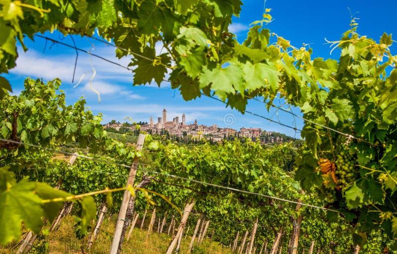Mittelalterliche Stadt von San Gimignano, Toskana, Italien lizenzfreie stockbilder