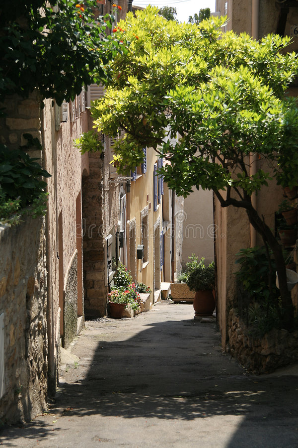 Mittelalterliche Straße stockbilder