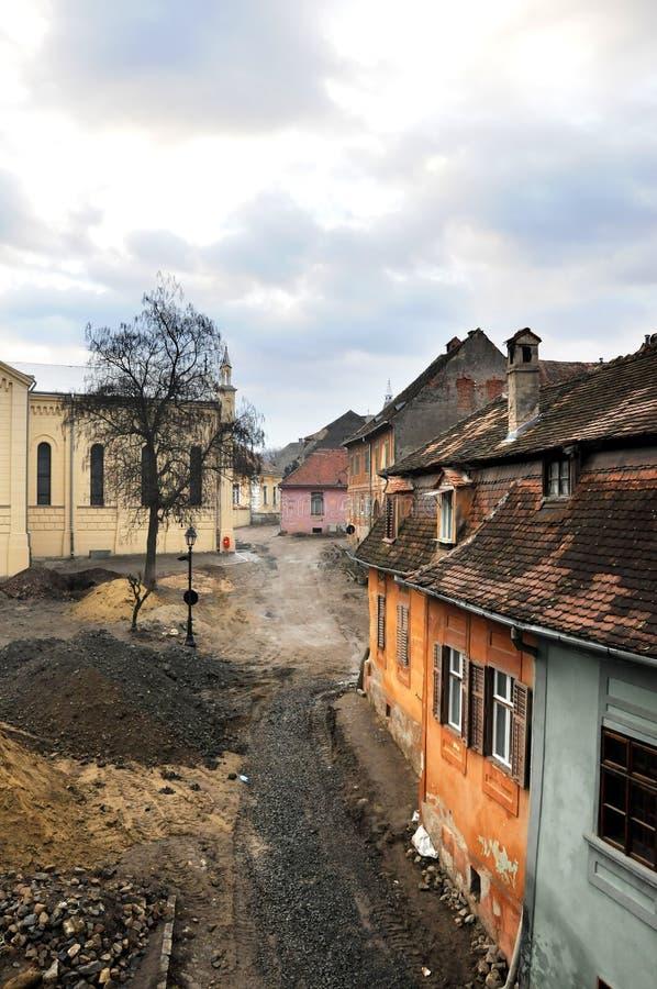 Mittelalterliche Straße lizenzfreie stockfotografie