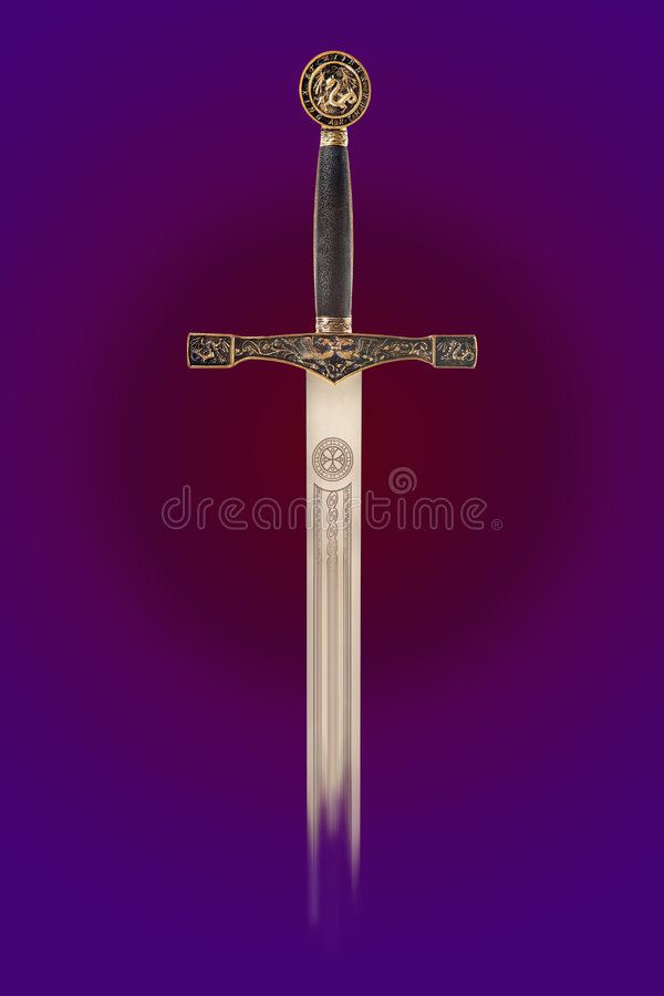 Mittelalterliche Waffe stockbilder
