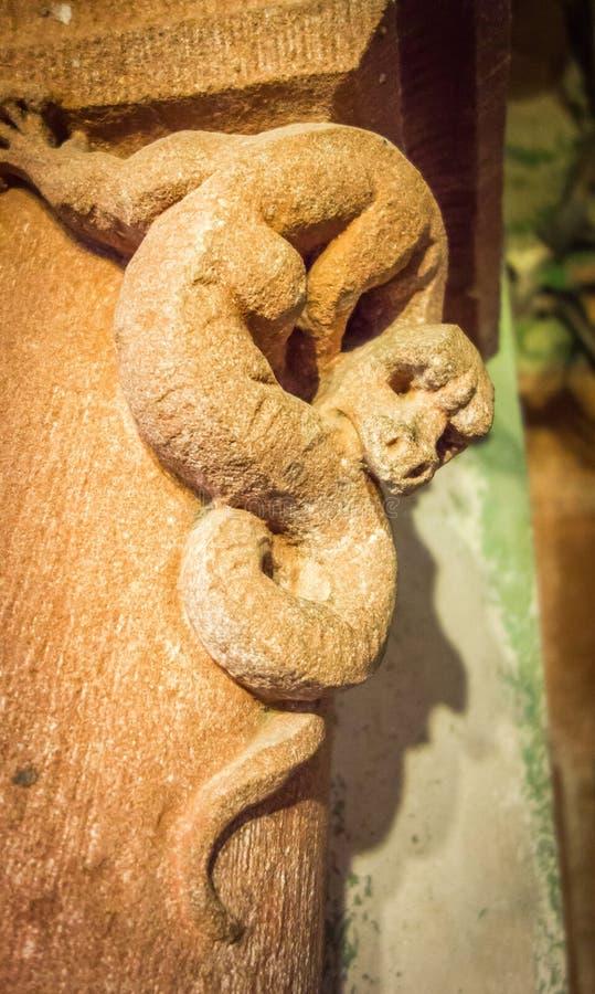 Mittelalterliche Wasserspeiereidechse lizenzfreies stockbild