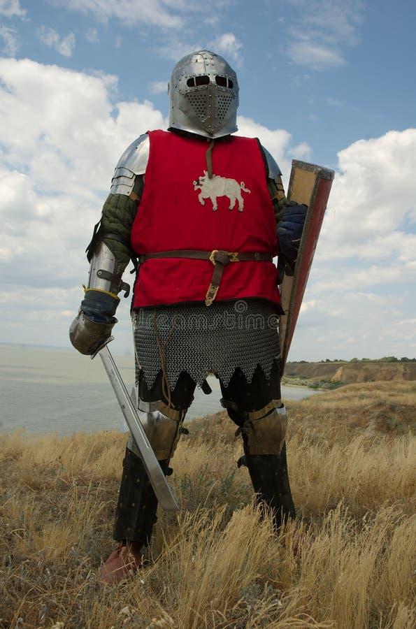 Mittelalterlicher europäischer Ritter stockbilder