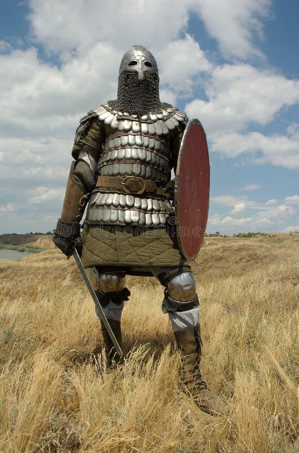 Mittelalterlicher europäischer Ritter stockbild