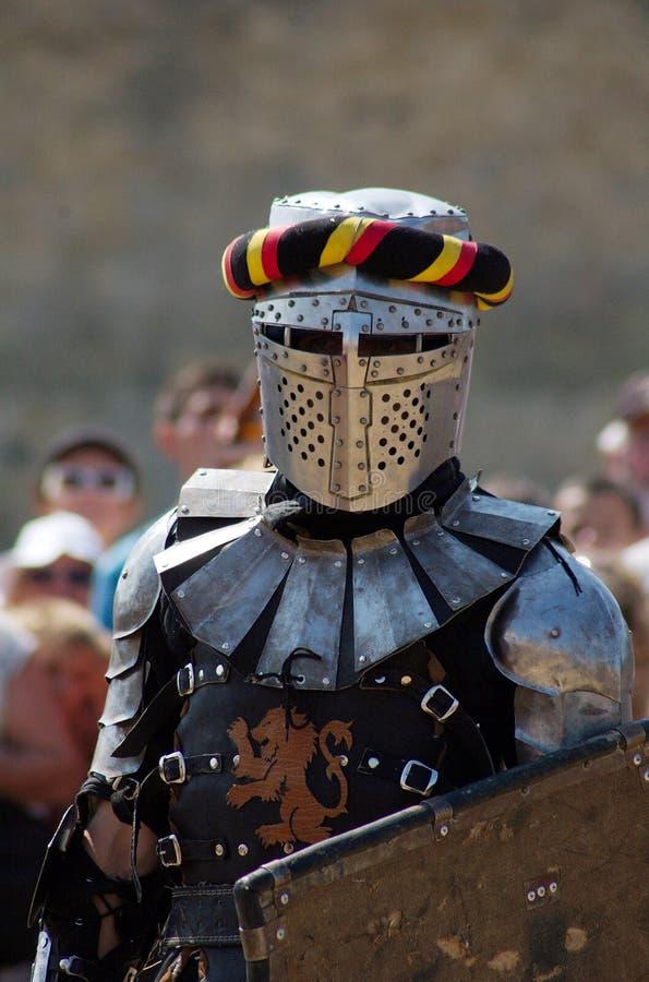 Mittelalterlicher europäischer Ritter stockfoto