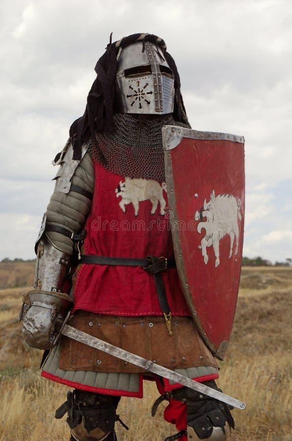 Mittelalterlicher europäischer Ritter lizenzfreie stockfotos