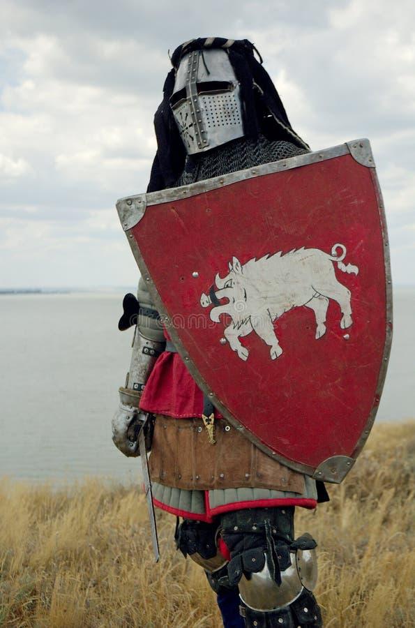 Mittelalterlicher europäischer Ritter lizenzfreie stockbilder