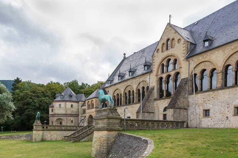 Mittelalterlicher Kaiserpalast in Goslar, Deutschland stockbilder