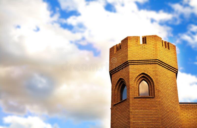 Mittelalterlicher Kontrollturm stockbilder